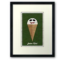 Joker Mint Framed Print