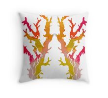 Abstract Corals Throw Pillow