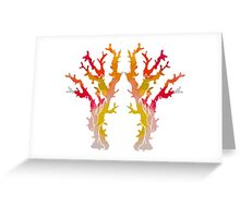 Abstract Corals Greeting Card