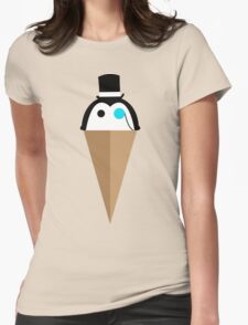 Peppermint Penguin Womens Fitted T-Shirt