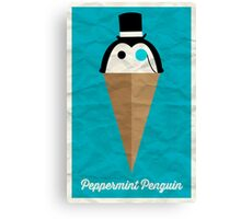 Peppermint Penguin Canvas Print