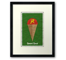 Robin's Road Framed Print