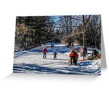 Family Day Along The River Edge Greeting Card