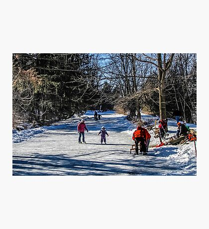 Family Day Along The River Edge Photographic Print