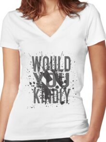 """Would You Kindly"" - Bioshock Women's Fitted V-Neck T-Shirt"