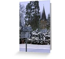 Winter has arrived! Greeting Card