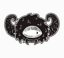 Black Monster Head by emo-seal