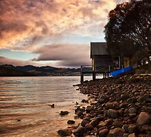 Bullock Point Boatshed Tasmania by Chris Cobern
