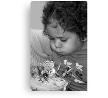 Jada, Blowing out the Candles! Canvas Print