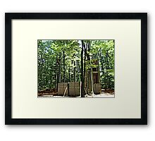 Mysterious Abandoned Structure In The Forest Framed Print