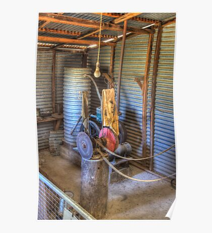 The Lister, Shearing Shed to run equipment prior to electricity  Poster