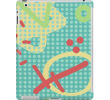 Modern hand draw colorful abstract seamless pattern  iPad Case/Skin
