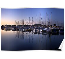 Sunrise Masts Poster