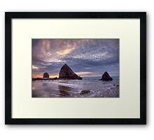 Sunset at Cannon Beach, OR Framed Print