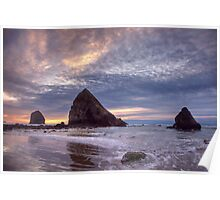 Sunset at Cannon Beach, OR Poster
