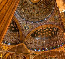 High Domes - Landmark Cairo Mosque Interior by Mark Tisdale