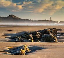 Moolack and Yaquina - Oregon Coast by Mark Kiver