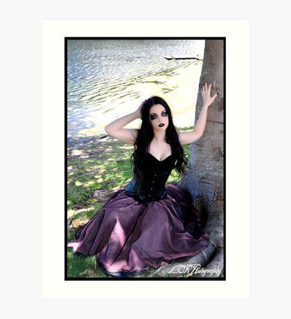 Just a Little Goth Alice Art Print