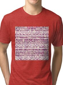 Trendy Rustic Tribal Aztec Pattern Tri-blend T-Shirt