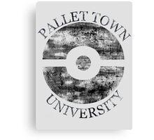 Pallet Town University Canvas Print