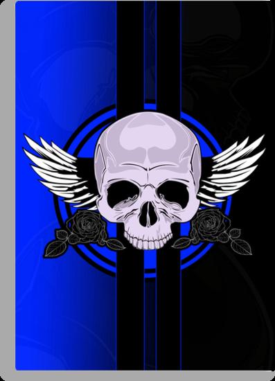 Wing Skull - BLUE by Adamzworld