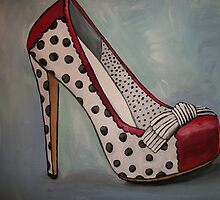 Polka Dot Heel by Arts4U