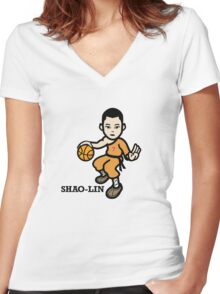 Shao-Lin - Jeremy Lin Women's Fitted V-Neck T-Shirt