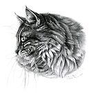 Norwegian Forest Cat G2010-010 by schukinart