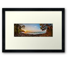 Little Cove Panorama Framed Print