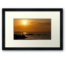 Boy Fishing - La Perouse - Sydney - Australia Framed Print