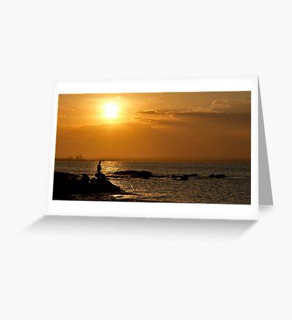 Boy Fishing - La Perouse - Sydney - Australia Greeting Card