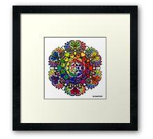 Rainbow Valentine Mandala Framed Print