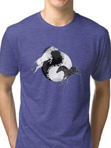 Yin Yan Horses Tri-blend T-Shirt
