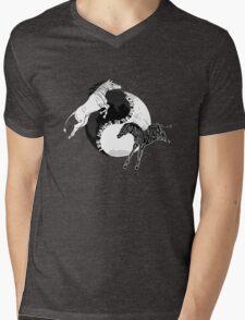 Yin Yan Horses Mens V-Neck T-Shirt