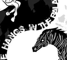 Yin Yan Horses Sticker