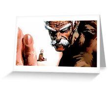 Bang One punch man Greeting Card