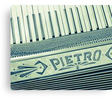 Retro Piano Accordian Canvas Print