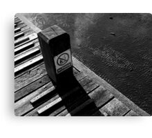 Piano in the sea. Canvas Print
