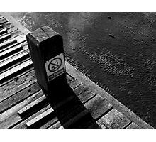 Piano in the sea. Photographic Print