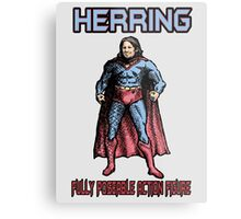 Richard Herring Action Figure Metal Print
