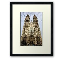 Gothic Finery - Tours Cathedral Framed Print