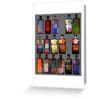 Abstract sixteen coloured bottles Greeting Card