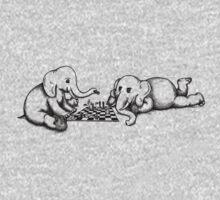 Elephants Playing Chess T-Shirt