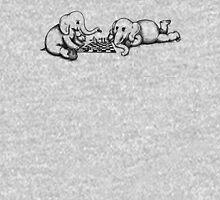Elephants Playing Chess Unisex T-Shirt