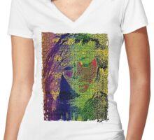 Love Bytes Ladies #22 Women's Fitted V-Neck T-Shirt