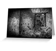 Etchings On The Wall. Greeting Card