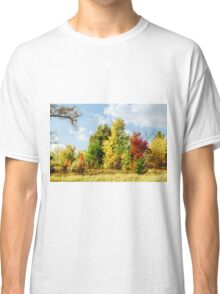 Walking in the autumn forest Classic T-Shirt
