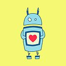 Cute Clumsy Robot With Heart Case by Boriana Giormova