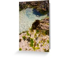 Pool and Garden Greeting Card