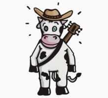 Cowboy Cow with Hat and Guitar by chrisbears